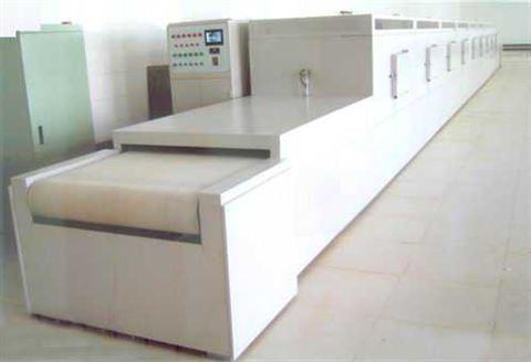 隧道式微波干燥机应用